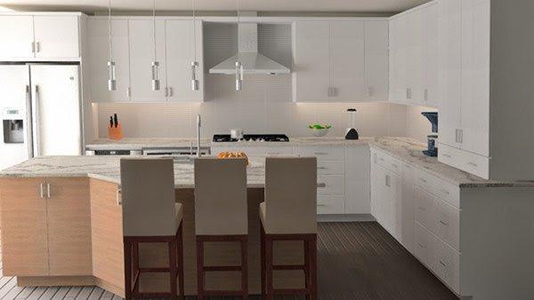 Ανακαίνιση κουζίνας από την AGS Engineering φωτορεαλιστικό σχέδιο