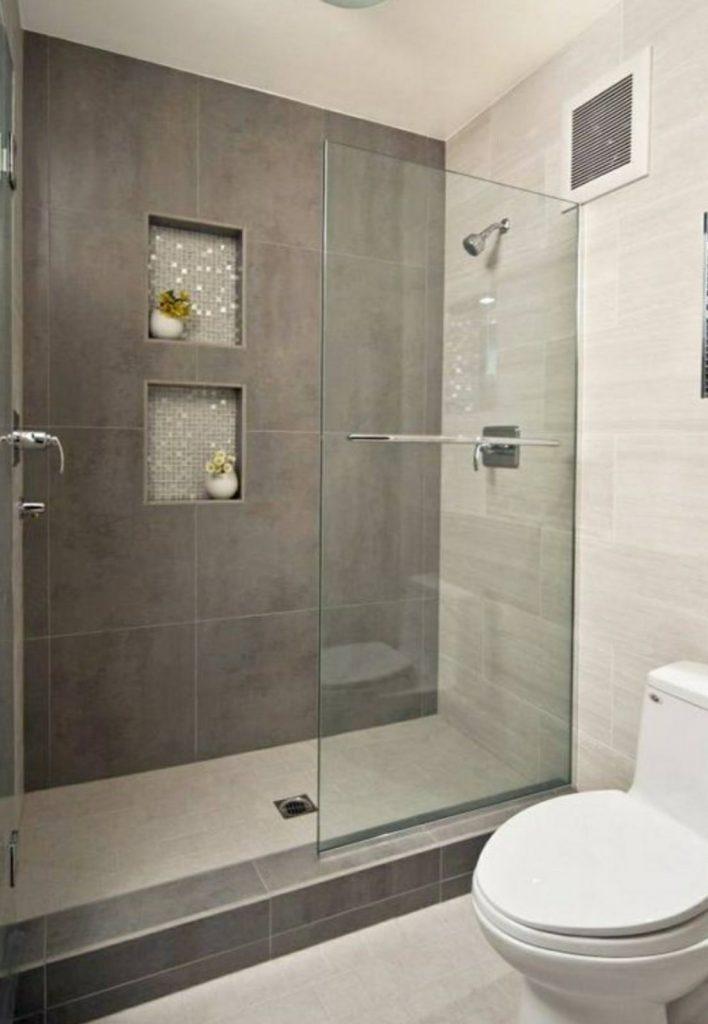 ανακαίνιση μπάνιου με σταθερό τζάμι